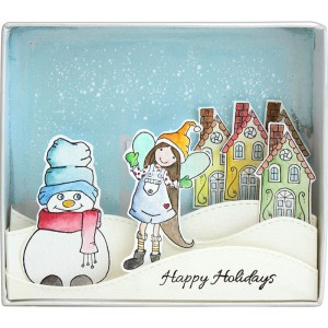 PCLD02 Whisper Friends Happy Winter by Sandra Ghidara