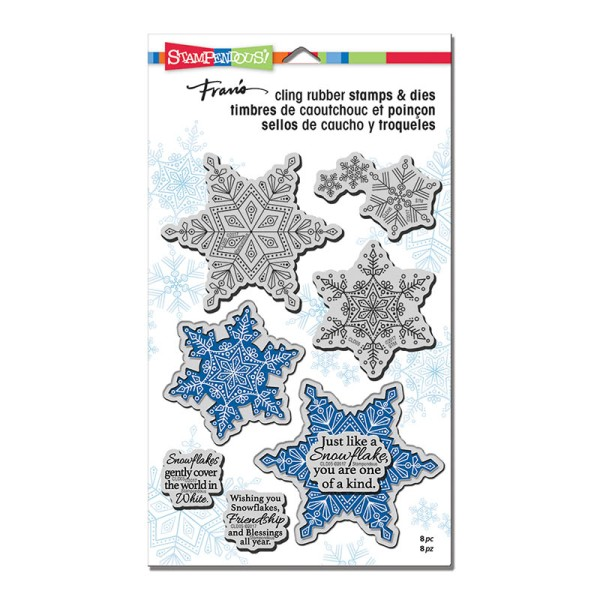 CLD05 Winter White Cling Stamps and Cutting Dies