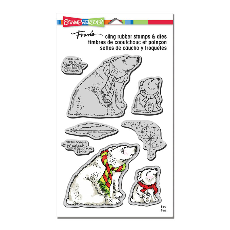 CLD07 Polar Bears Cling Stamps and Cutting Dies