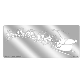 DWLL556 Sleigh and Reindeer Metal Stencil