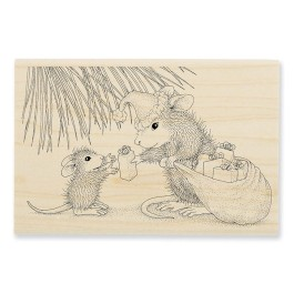 HMP80 Gift Giving Wood Mounted Stamp