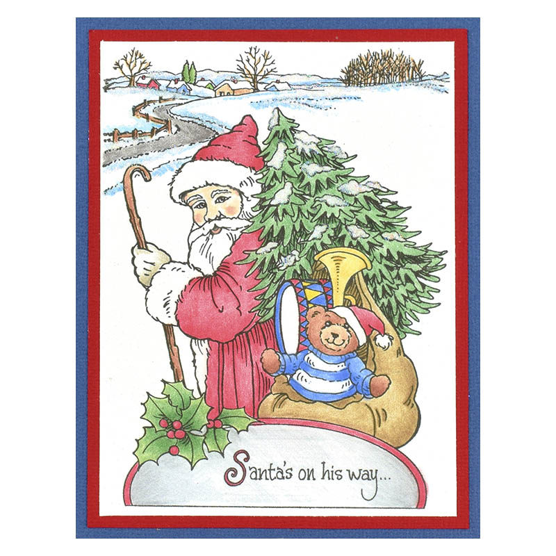 R307 Santa On His Way by Debi Hammons