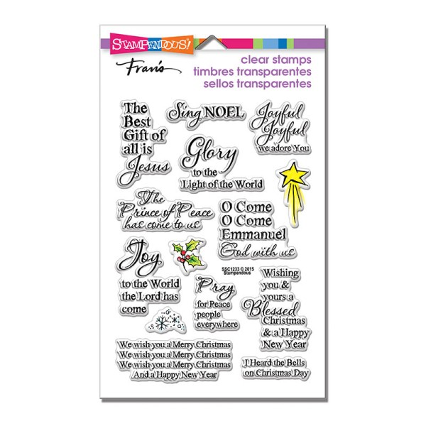 SSC1233 Joyful Phrases Perfectly Clear Stamps