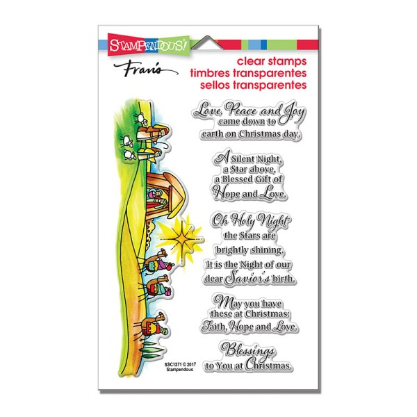 SSC1268 Blessed Nativity Perfectly Clear Stamps Set