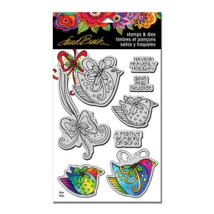 LBCLD01 LB Heavenly Holiday Cling Stamps/Cutting Dies Set