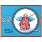 Laurel Burch Cat Angel by Debi Hammons