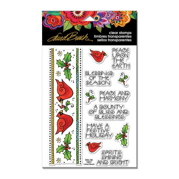 SSCL106 Laurel Burch Cardinal Border