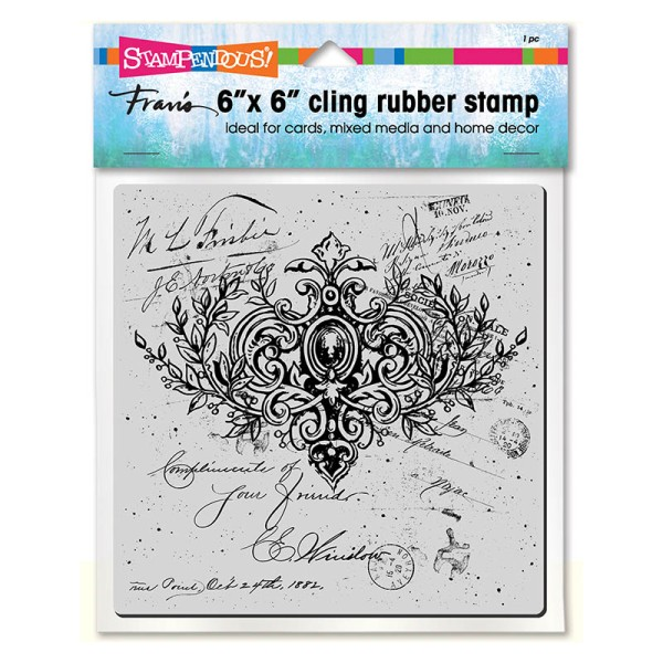 Ornate Scroll Cling Stamp