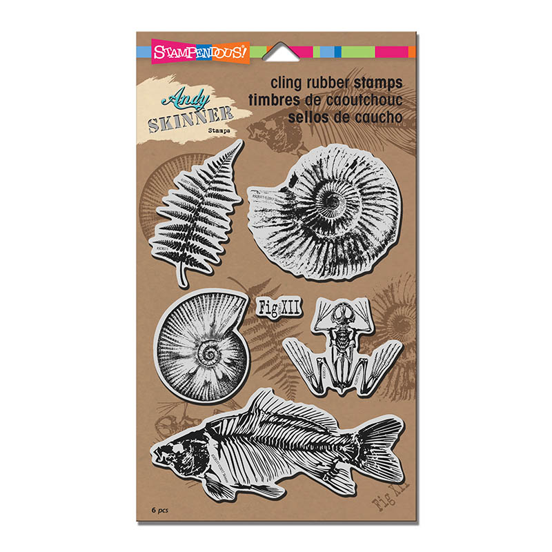 ASCRS11 Andy Skinner Fossils Cling Rubber Stamp Set