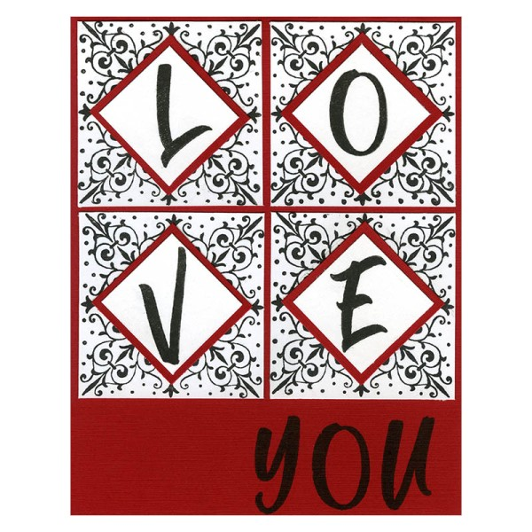 Love You Brush Alphabet by Debi Hammons