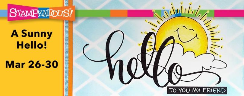 Sunny Hello Stamp Banner