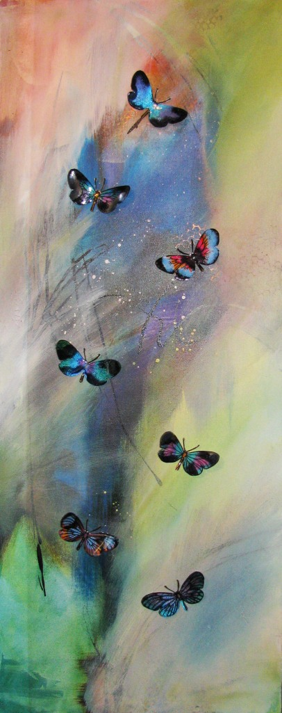 Butterfly Canvas by Donna Cennimo