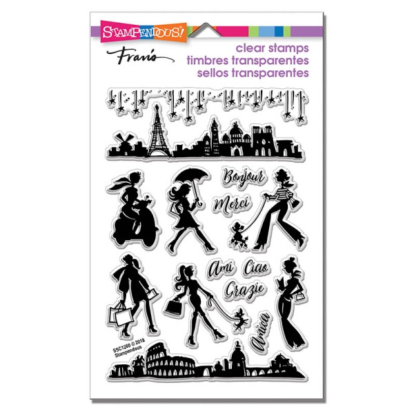 SSC1280 Sassy Travel Perfectly Clear Stamps