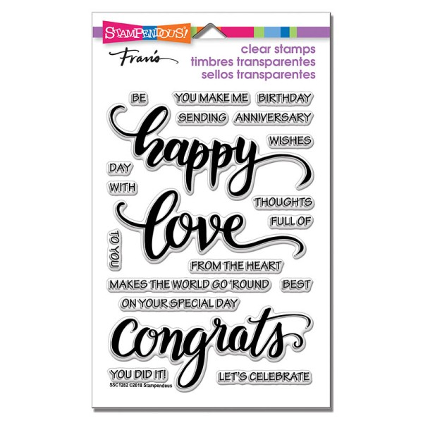 SSC1282 Big Words Happy Perfectly Clear Stamps