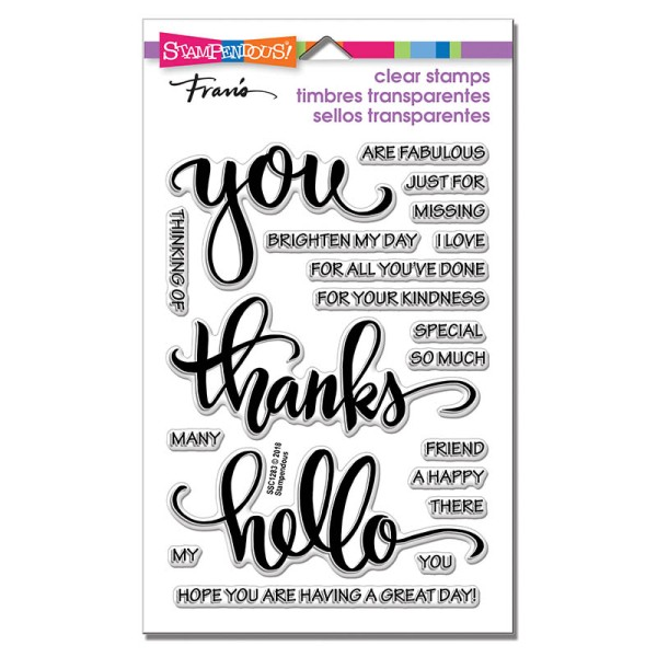 SSC1283 Big Words Thanks Perfectly Clear Stamps