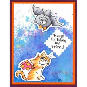 QS5011 Batty Cat - all by Fran Seiford
