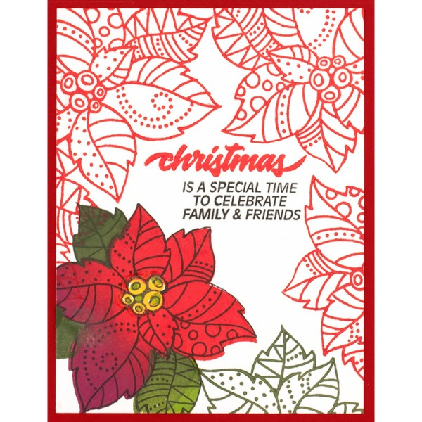 Poinsettia Parts Red by Fran Seiford