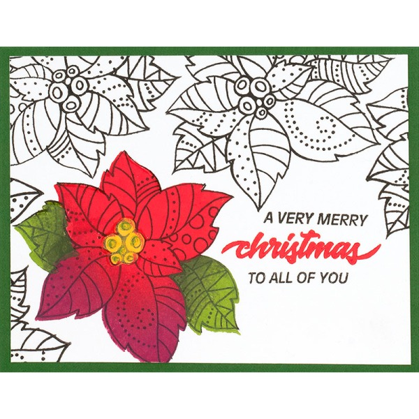 Poinsettia Parts Green by Fran Seiford