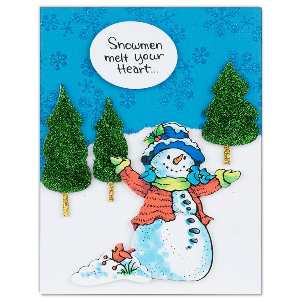 CLD12 Snowman Cardinals by Debi Hammons