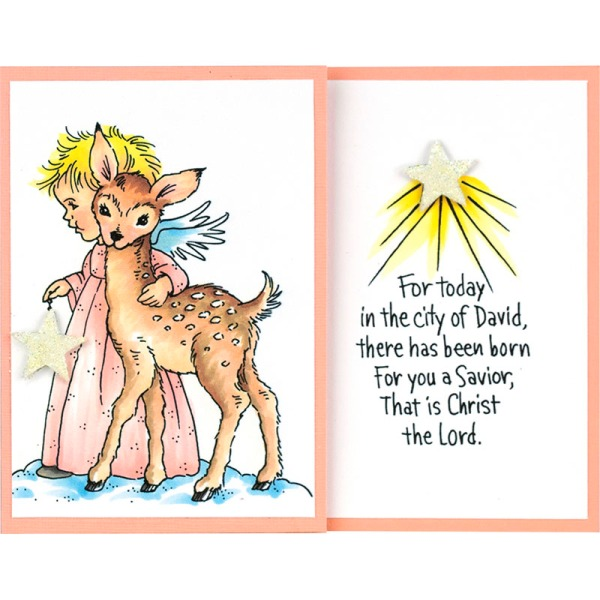 P322 Cherub Deer by Debi Hammons
