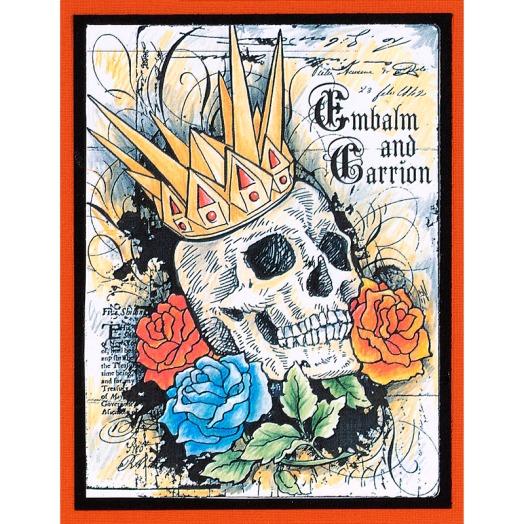 Crowned Skull Card by Debi Hammons