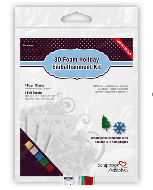 3d Foam Holiday Embellishments