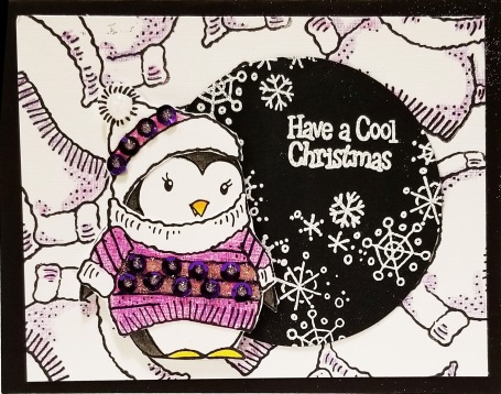 Cool Penguin by Roxanne Russel