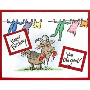 Old Goat Cling Rubber Stamp set
