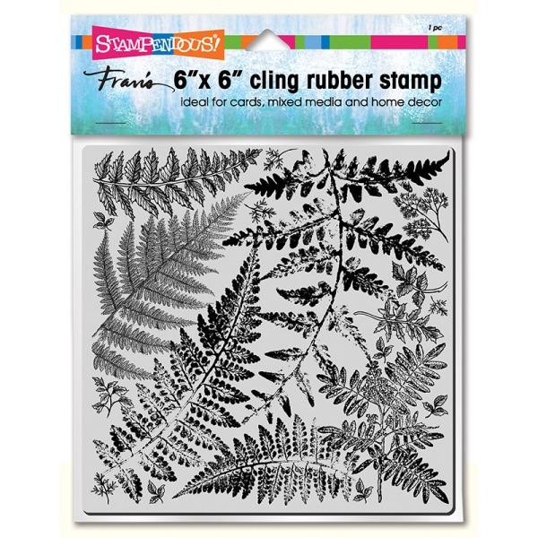 6CR015 Fern Garden Cling Rubber Stamp