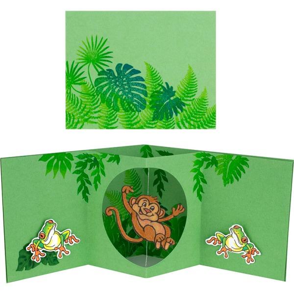 Monkey Spinner Card