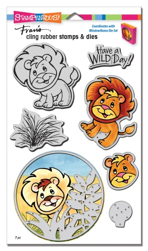 Lion Cling Stamps and Dies