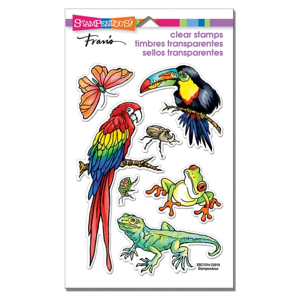 SSC1314 Jungle Life Perfectly Clear Stamps