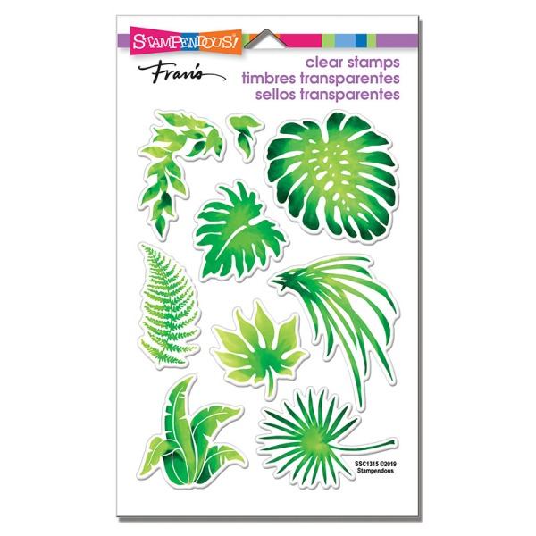 SSC1315 Jungle Greenery Perfectly Clear Stamps