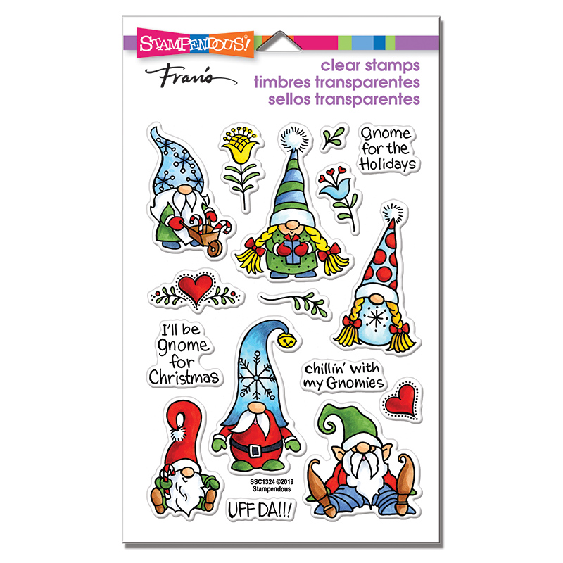 SSC1324 Holiday Gnomes Perfectly Clear Stamps
