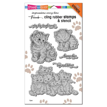Kitten Hugs Cling Stamp Set
