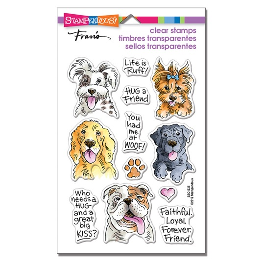 Dog Kisses Perfectly Clear Stamps