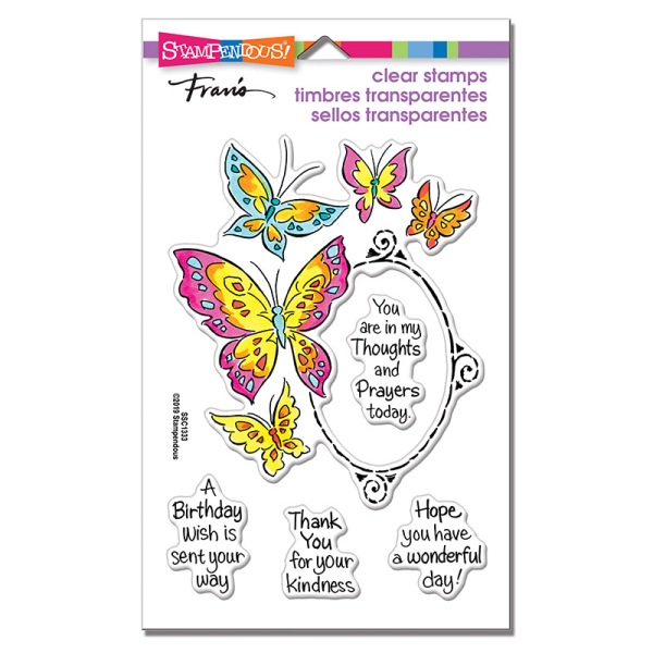 Butterfly Frame Perfectly Clear Stamps