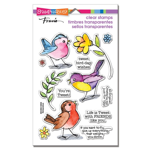 SSC2004 Sketchy Birds Perfectly Clear Stamps