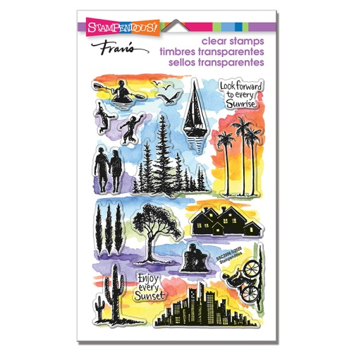 SSC2006 Sunrise Sunset Perfectly Clear Stamps
