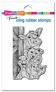 Funny Farm Cling Rubber Stamp