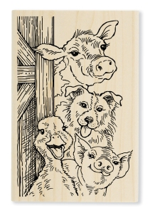 Funny Farm Wood Stamp