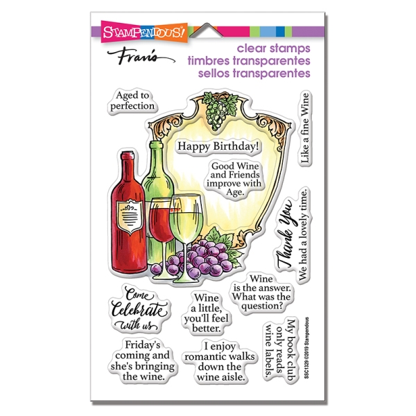 Wine Frame Stamp Set