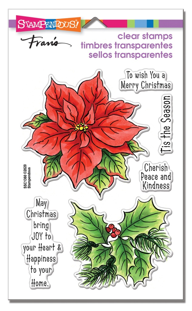 Poinsettia Season Perfectly Clear Stamps