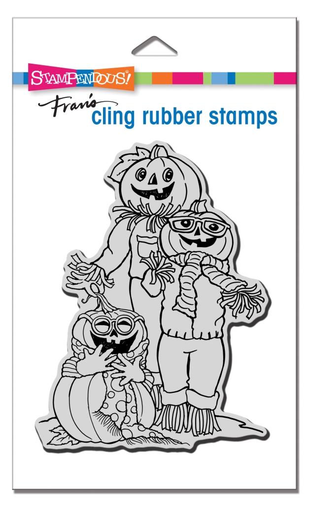 Pumpkin Pals Cling Rubber Stamp
