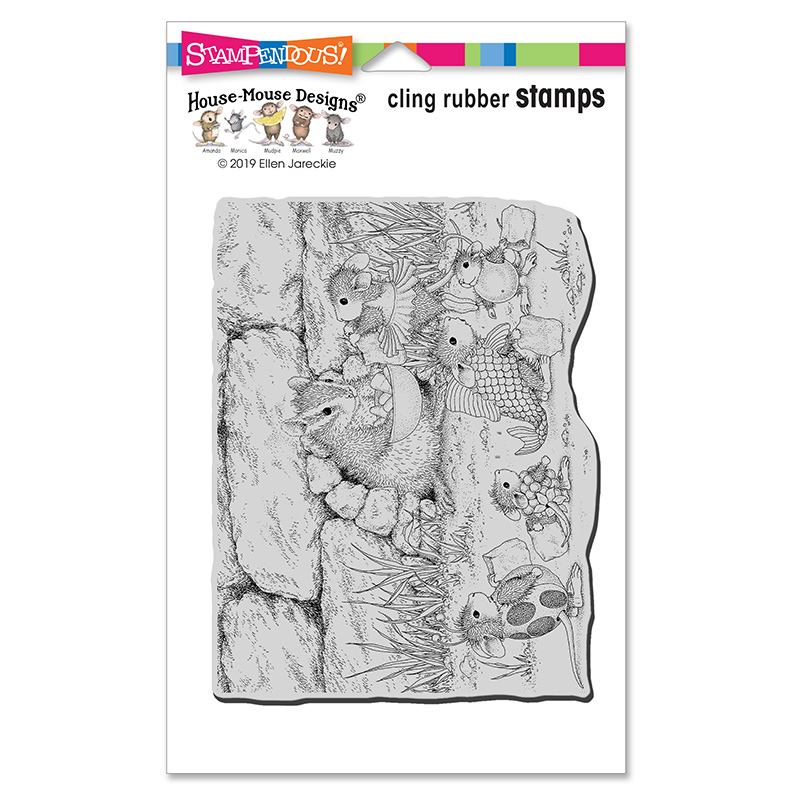 Chipmunk Treats Cling Rubber Stamp