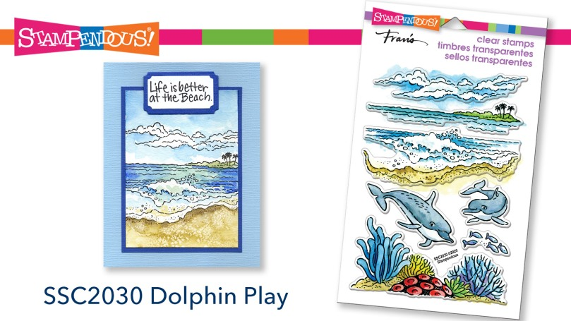 Dolphin Play Perfectly Clear Stamps
