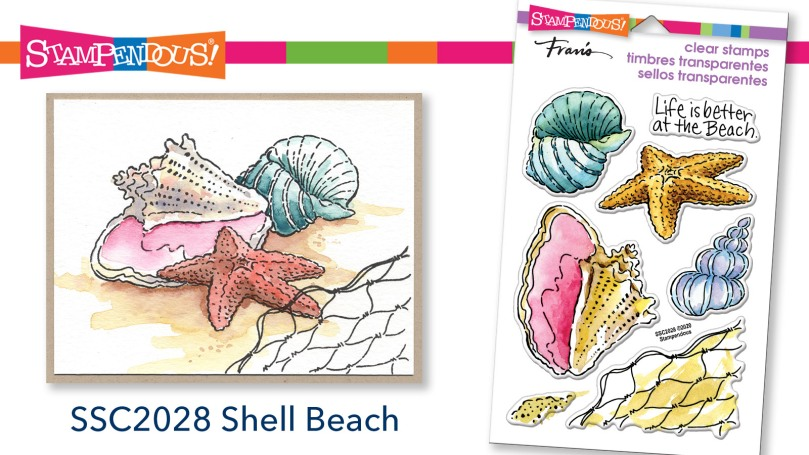 Shell Beach Perfectly Clear Stamps